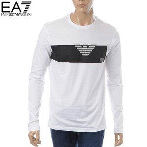 エンポリオアルマーニEMPORIOARMANIEA7クルーネックTシャツ長袖メンズ3GPT11PJT7Zホワイト