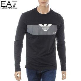エンポリオアルマーニ EMPORIO ARMANI EA7 クルーネックTシャツ 長袖 メンズ 3GPT11 PJT7Z ブラック
