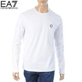 エンポリオアルマーニ EA7 EMPORIO ARMANI クルーネックTシャツ 長袖 メンズ 8NPTL9 PJ03Z ホワイト