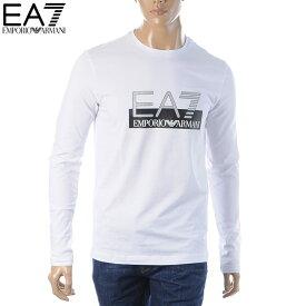 エンポリオアルマーニ EA7 EMPORIO ARMANI クルーネックTシャツ 長袖 メンズ 6GPT64 PJ03Z ホワイト 2019秋冬新作