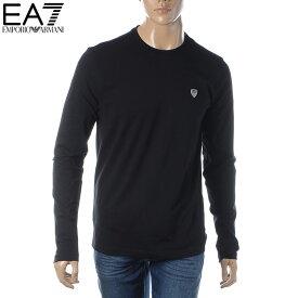 エンポリオアルマーニ EA7 EMPORIO ARMANI クルーネックTシャツ メンズ 長袖 8NPTL9 PJ03Z ブラック 2020春夏セール