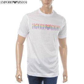 エンポリオアルマーニ EMPORIO ARMANI クルーネックTシャツ 半袖 メンズ 3G1TM6 1JQXZ ホワイト