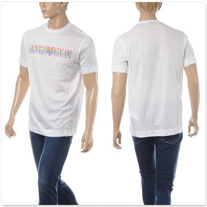 エンポリオアルマーニEMPORIOARMANIクルーネックTシャツ半袖メンズ3G1TM61JQXZホワイト