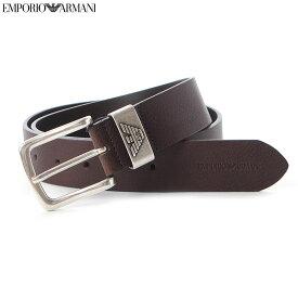 エンポリオアルマーニ EMPORIO ARMANI レザーベルト メンズ Y4S201 YDD6G ダークブラウン