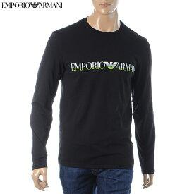 エンポリオアルマーニ EMPORIO ARMANI UNDERWEAR クルーネックTシャツ 長袖 メンズ 111653 9A516 ブラック
