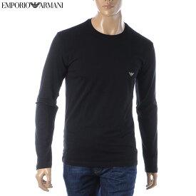 エンポリオアルマーニ EMPORIO ARMANI UNDERWEAR クルーネックTシャツ 長袖 メンズ 111023 9A725 ブラック