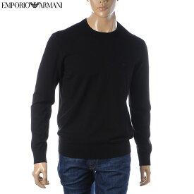 エンポリオアルマーニ EMPORIO ARMANI ニット セーター メンズ クルーネック 8N1MA1 1MPQZ ブラック 2020秋冬新作
