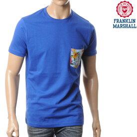 フランクリンマーシャル FRANKLIN&MARSHALL メンズ半袖Tシャツ/ブルー/TSMAL266