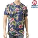 FRANKLIN&MARSHALL【フランクリンマーシャル】メンズ半袖Tシャツ/MAKANA BLUE/TSMVA296/リバーシブル