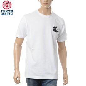 フランクリンマーシャル FRANKLIN&MARSHALL クルーネックTシャツ メンズ 半袖 TSMF250AN ホワイト