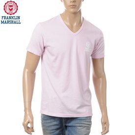 フランクリンマーシャル FRANKLIN&MARSHALL VネックTシャツ メンズ 半袖 TSMF174AN ピンク