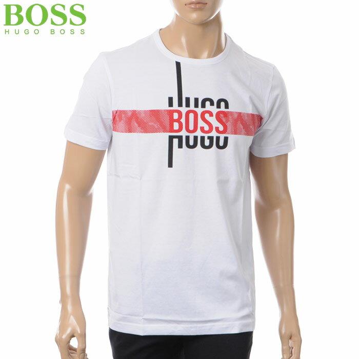 ヒューゴボス HUGO BOSS ATHLEISURE クルーネックTシャツ 半袖 メンズ 50377851 ホワイト