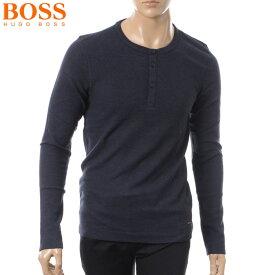 ヒューゴボス HUGO BOSS CASUAL ヘンリーネックTシャツ 長袖 メンズ 50378288 ネイビー