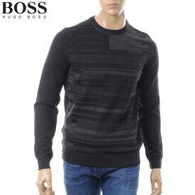 ボス ヒューゴボス BOSS HUGO BOSS クルーネックニット セーター メンズ 50392093 ブラック