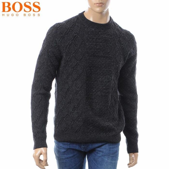 ヒューゴボス HUGO BOSS クルーネックニット セーター メンズ 50392607 ブラック