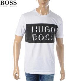 ヒューゴボス HUGO BOSS クルーネックTシャツ 半袖 メンズ 50426064 10171742 ホワイト×ブラック