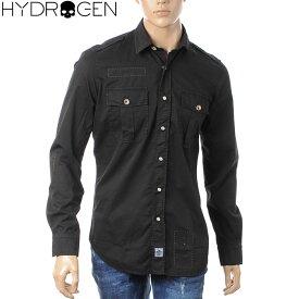 ハイドロゲン HYDROGEN 長袖ミリタリーシャツ メンズ 190402 ブラック