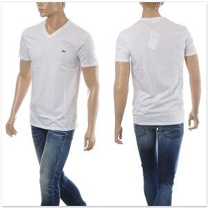 ラコステLACOSTEVネックTシャツ半袖メンズTH6710ホワイト