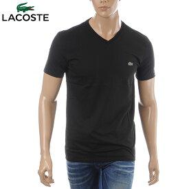 ラコステ LACOSTE VネックTシャツ 半袖 メンズ TH6710 ブラック