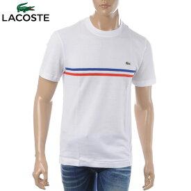 ラコステ LACOSTE クルーネックTシャツ 半袖 メンズ TH4335 ホワイト