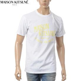 メゾンキツネ MAISON KITSUNE クルーネックTシャツ メンズ M711 ホワイト
