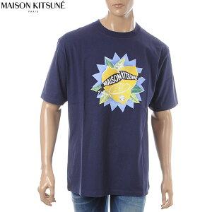 メゾンキツネMAISONKITSUNEクルーネックTシャツ半袖メンズCM00111KJ0010ネイビー