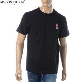 メゾンキツネ MAISON KITSUNE クルーネック Tシャツ 半袖 メンズ SPCZU00101 ブラック