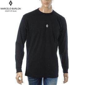 マルセロバーロン MARCELO BURLON クルーネックTシャツ 長袖 メンズ HEART WINGS T-SHIRT L/S CMAB007E190010061001 ブラック