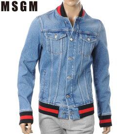 エムエスジーエム MSGM デニムジャケット メンズ アウター ボンバージャケット 2340MM76X ウォッシュドブルー