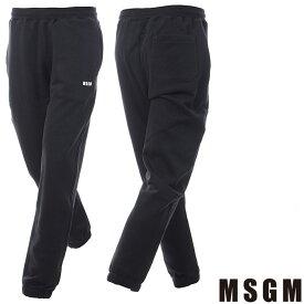 エムエスジーエム MSGM スウェットパンツ メンズ 2540MP62 ブラック