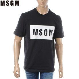 エムエスジーエム MSGM クルーネックTシャツ 半袖 メンズ 2640MM67 ブラック