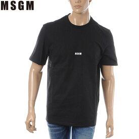エムエスジーエム MSGM クルーネックTシャツ 半袖 メンズ 2640MM162 ブラック