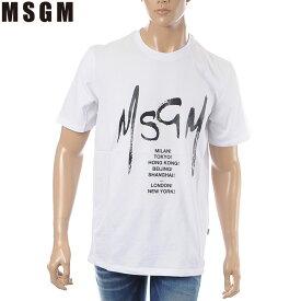 エムエスジーエム MSGM クルーネックTシャツ 半袖 メンズ 2640MM183 ホワイト