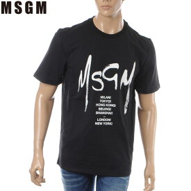 エムエスジーエム MSGM クルーネックTシャツ 半袖 メンズ 2640MM183 ブラック