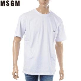 エムエスジーエム MSGM クルーネックTシャツ 半袖 メンズ 2640MM174 ホワイト