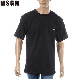エムエスジーエム MSGM クルーネックTシャツ 半袖 メンズ 2640MM174 ブラック