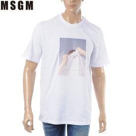 エムエスジーエム MSGM クルーネックTシャツ 半袖 メンズ 2640MM169 ホワイト