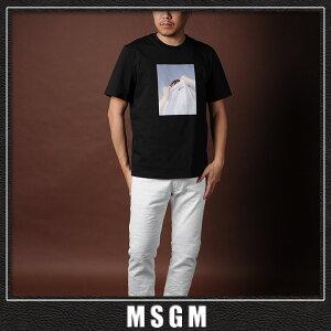 エムエスジーエムMSGMクルーネックTシャツ半袖メンズ2640MM169ブラック