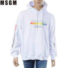 エムエスジーエム MSGM プルオーバーパーカー メンズ 2640MM172 ホワイト