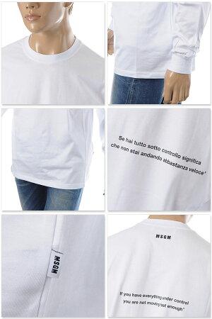 エムエスジーエムMSGMクルーネックTシャツ長袖メンズ2740MM184195797ホワイト