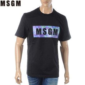 エムエスジーエム MSGM クルーネックTシャツ 半袖 メンズ 2840MM234 207098 ブラック 2020春夏新作