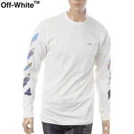 オフホワイト OFF WHITE クルーネックTシャツ 長袖 メンズ DIAG COLORED ALLOWS L/S TEE OMAB001R191850120288 オフホワイト