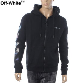 オフホワイト OFF WHITE ジップアップパーカー メンズ DIAG COLORED ARROW ZIP HOODIE OMBE001R190030121088 ブラック