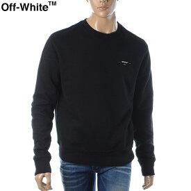 """オフホワイト OFF WHITE クルーネックスウェット トレーナー メンズ OFF WHITE """"LOGO"""" SLIM CREWNEC OMBA025E19D250191001 ブラック"""