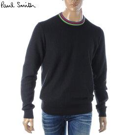 ポールスミス PAUL SMITH クルーネックネックニット セーター メンズ M2R 468T A20721 ブラック 2019秋冬新作