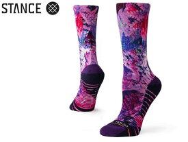 【STANCE SOCKS】スタンス ソックス W558C18PAC トレーニング用 ソックス フィール360 FEEL360 PALM CREW WOMEN LADIES TRAINING PURPLE 紫 花柄 レディース 女性 女性用 靴下 長い靴下 クルー丈 プレゼント 贈り物 オシャレ 正規品 シンプル パープル