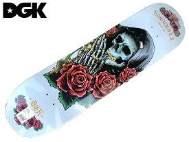 DGK ディージーケー Fagundes Pray DWAYNE デッキ deck 板 正規品 8.0スケートボード skateboard skate スケボー ブランド バラ スケルトン 薔薇 骸骨 DGK ALL DAYS ステッカー