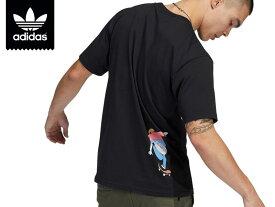 adidas SKATEBOARDING アディダス Tシャツヘンリージョーンズ シャツ TEE 半袖 カットソー 黒T 黒Tシャツ マーク プッシュTシャツ XS O XO 2XO XL 2XL 3XL スケート スケボー スケートボード スケートボーディング オリジナルスメール便 GL9981