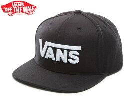 VANS バンズ ヴァンズ Drop V Snapback Hat CAP キャップ ハット スナップバック 帽子 アパレル スケート シューズ 男女兼用 ユニセックス スニーカー シューズ スケボー BLACK WHITE 黒 白 VN0A36ORY28