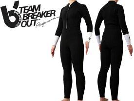 ブレーカーアウト 3/3mm レディース フルスーツ ウェットスーツ BREAKER OUT 女性用 女 フロントジップ スプリング サマー サーフィン AXXE アックス